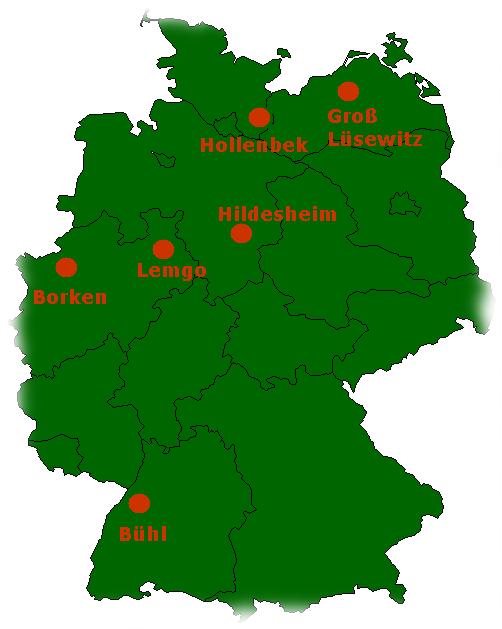 Standorte des GutachterRings
